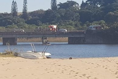 Woman dies as car plummets off bridge into river on KwaZulu-Natal South Coast
