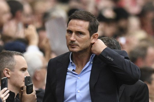 Chelsea's English head coach Frank Lampard arrives for the English Premier League football match between Manchester United and Chelsea at Old Trafford in Manchester, north west England, on August 11, 2019. (Photo by Oli SCARFF / AFP)