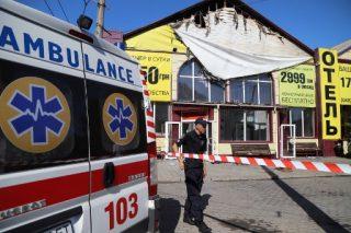 Eight killed in Ukraine hotel fire