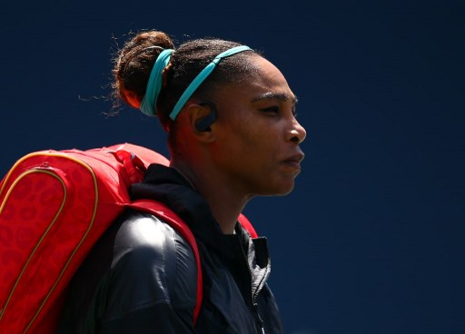 Serena Williams of the United States makes her way onto the court prior to the final match against Bianca Andreescu of Canada on Day 9 of the Rogers Cup at Aviva Centre on August 11, 2019 in Toronto, Canada.   Vaughn Ridley/Getty Images/AFP