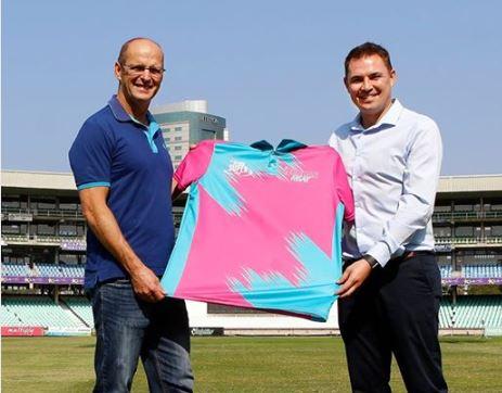 Gary Kirsten and Durban Heat CEO Heinrich Strydom. Photo: Anesh Debiky.