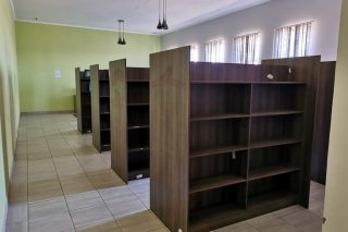 The R20m Credo Mutwa Lottery-funded library with empty shelves