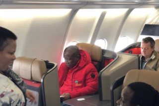 Malema claps back at man who posted photo of him in business class
