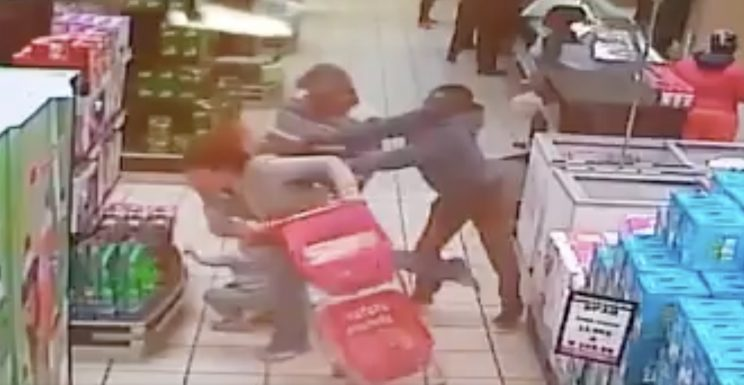 Man caught on video shoving woman at Spar is mentally disturbed – police
