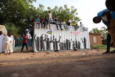 Leave our graffiti on the walls, say Sudan protesters