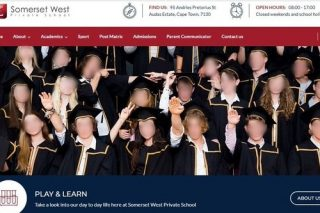 Outrage over 'Nazi salute' photo on Somerset West school's homepage