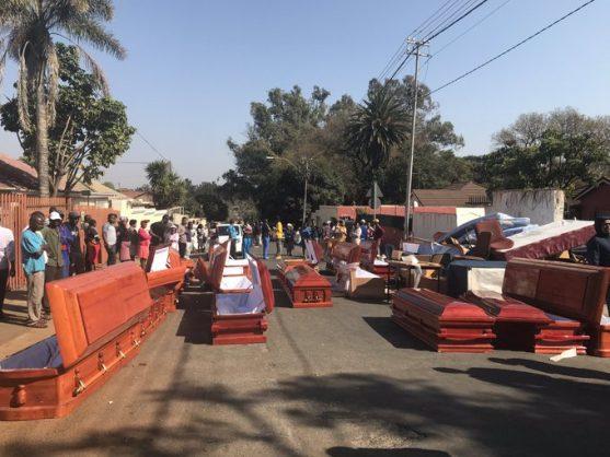 Residents find used coffins during drug 'raid'
