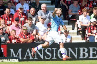 Aguero reaches 400 goals in City stroll, Newcastle stun Spurs