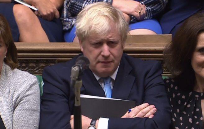 Boris Johnson flees from anti-Brexit protestors, dodges questions during EU talks