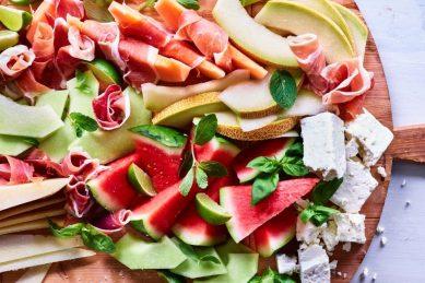 Recipe: Melon and cheese board