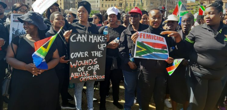 Ministers lead march against gender-based violence at Union buildings
