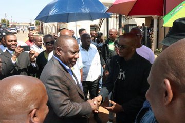 Ramaphosa visits slain taxi driver's family, vows to keep taxi ranks safe