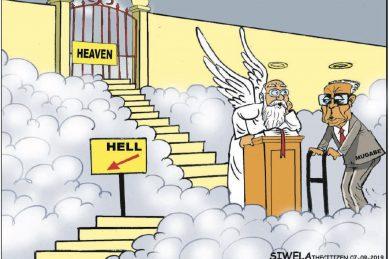 Cartoon: Which door for Mugabe?