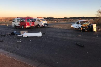 One dead, eight injured in multiple vehicle collision
