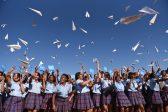 School pupils throw paper planes in record-breaking attempt
