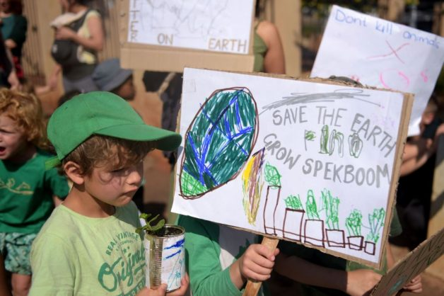 IN PICS: Joburg preschoolers march to save the planet