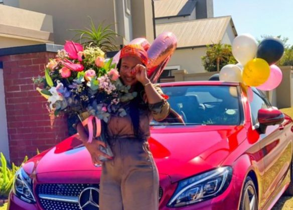 WATCH: Boity blesses her mom with a new set of birthday wheels