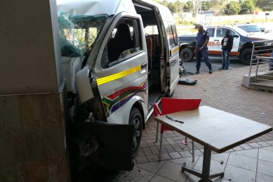 Six injured as taxi crashes into east shopping complex