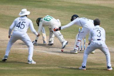 Maharaj strikes early after Ashwin's seven-wicket haul