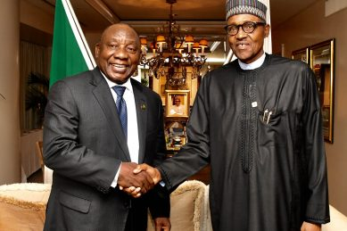 Buhari in South Africa to strengthen ties