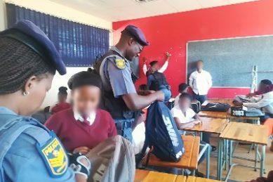 Mamelodi police find dagga, weapons in school raids