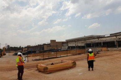 Construction of Selby Rea Vaya depot on track