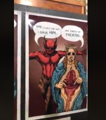 WATCH: Parent protests over Grantleigh school's 'satanic' artwork