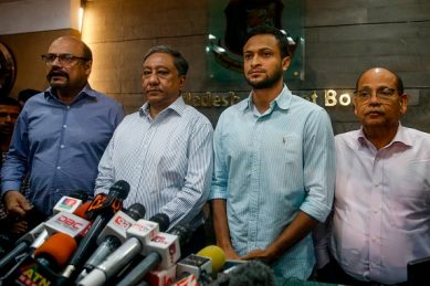 Protests in Bangladesh over ban on cricket hero Shakib