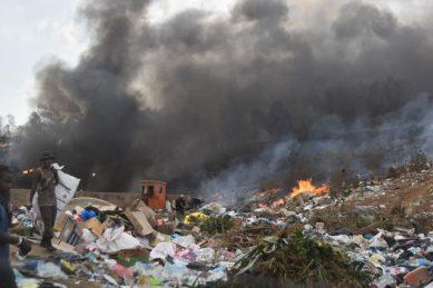 Pietermaritzburg choking under thick smoke as fire rages for three days