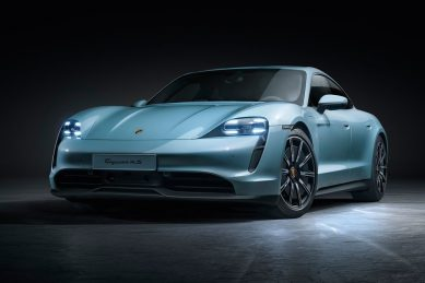Entry-level Porsche Taycan 4S silently arrives