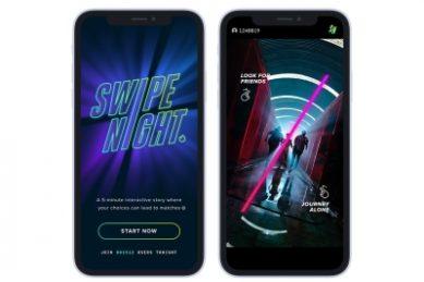 Tinder launches Swipe Night