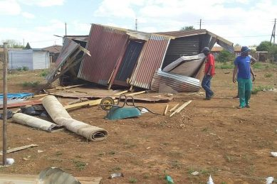 WATCH: Strong whirlwind destroys homes in North West informal settlement