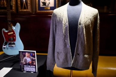 Kurt Cobain's cigarette-burned sweater sells for nearly R5m