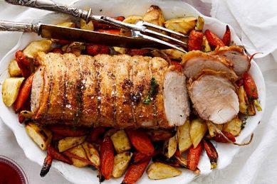 Recipe: Irish pork roast with roasted root vegetables