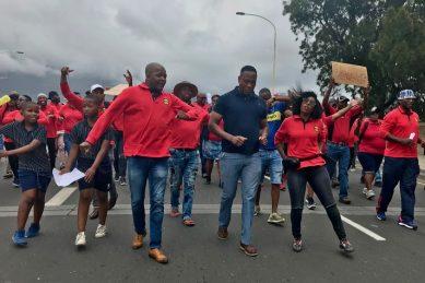 Cape Town law enforcement officers protest