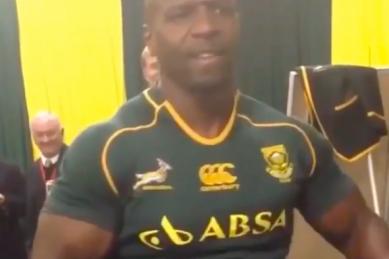 WATCH: Terry Crews celebrates the Springboks
