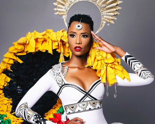 Miss SA unveils her national costume for Miss Universe