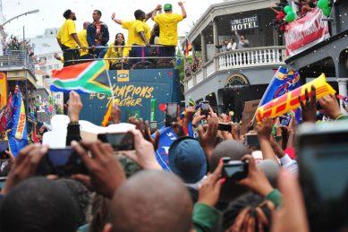 Cape Town embraces Boks for final trophy tour flurry