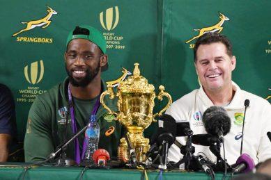 Springboks return into a maelstrom of jubilation