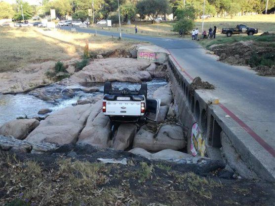 Belgrave bridge in Bryanston claims another vehicle