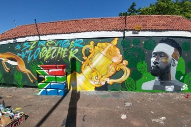 Durban artists paint Kolisi, Springbok mural in under 6 hours