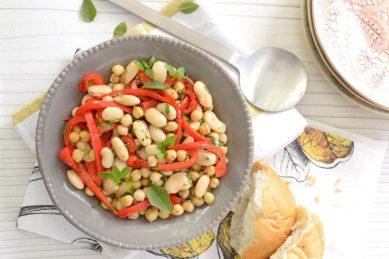 Recipe: Mediterranean bean and pepper salad