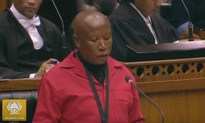 You 'hide behind the dress of your mother's credentials', Malema tells Cachalia