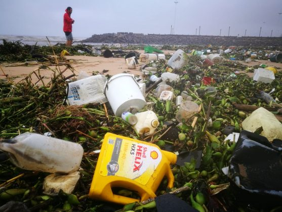 WATCH: Heavy rains wash piles of litter onto KZN beaches