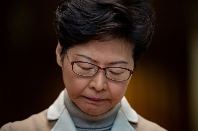 Hong Kong leader rules out protest concessions ahead of Beijing visit