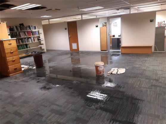 Heavy rain batters ailing Civitas building