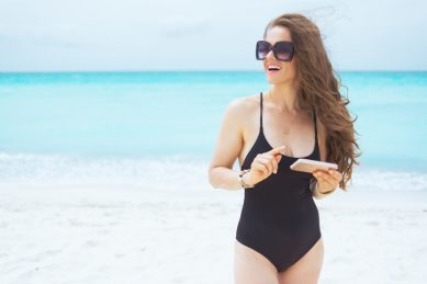 Get the summer look: The LBB (little black bathing suit)