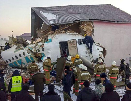 Kazakhstan observes day of mourning after fatal jet crash