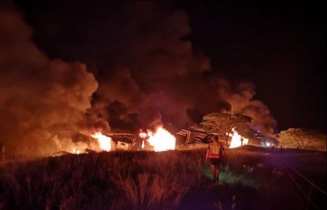 WATCH: Tanker collision causes fiery chaos on Van Reenen's Pass