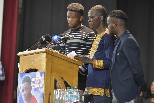 IN PICS: Ex-schoolmates, teachers bid Enock Mpianzi farewell